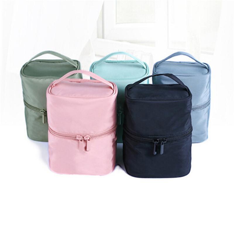 2020 Più nuovo sacchetto cosmetico solido boschetto da toilette da toilette da viaggio matrimoni da viaggio borse da viaggio custodia calda vendita con cerniera