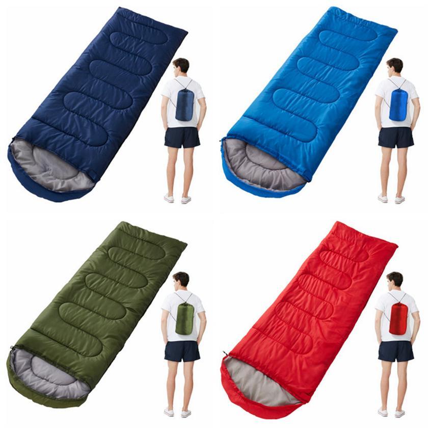 Открытый спальные мешки согревающее Конверт спальный мешок весной и осенью Отдых Путешествия Туризм Одеяла Спальный мешок CYZ2848