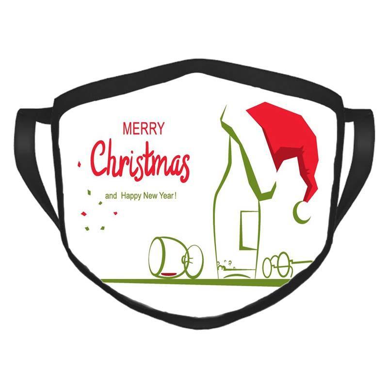 Маски для лица Рождества Открытых взрослые мода многоразовой маска Рождественской открытка Подходит для взрослых и детей Рождества