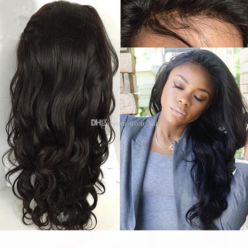 Parrucche del corpo del corpo della seta dei capelli umani brasiliani delle parrucche del corpo della seta dei capelli umani con la base di seta 4x4 con la base di seta 4x4 con i capelli del bambino per le donne nere