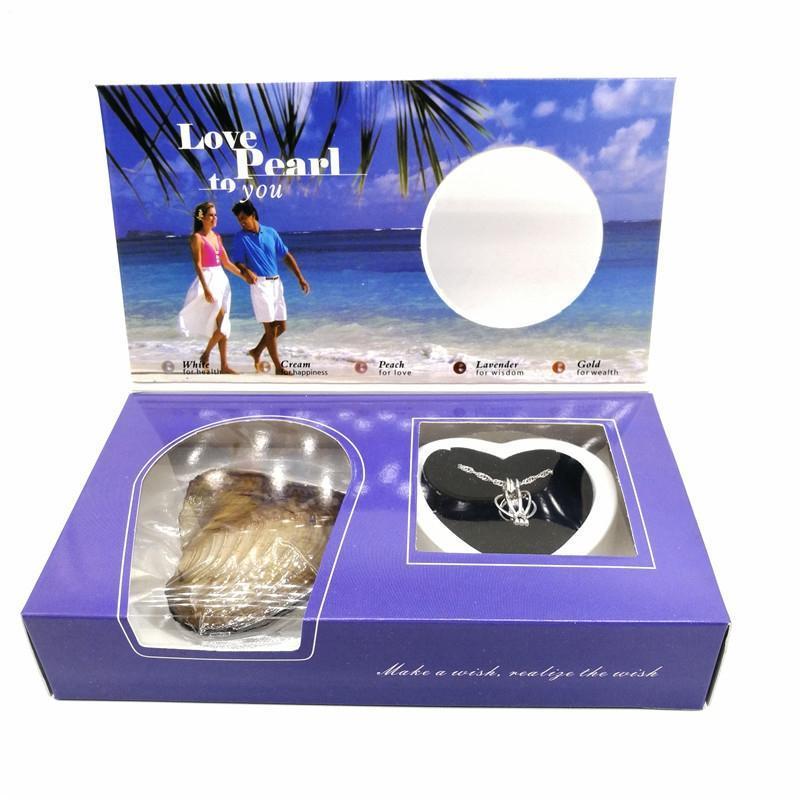 Hediye Paketi DIY Sevgililer Günü Kolye Mücevher Kutusu Vakumlu Ambalaj İnci Seti