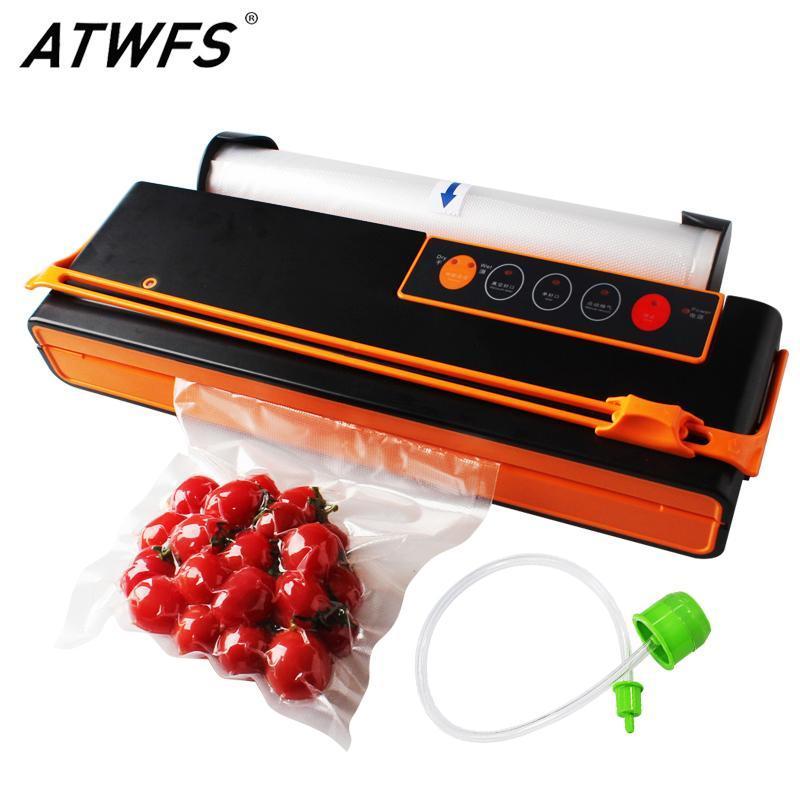 ATWFS Vacuum Sealer запайки упаковочная машина Упаковка экономайзер Автоматическая резка вакуумный мешок 10шт бесплатно