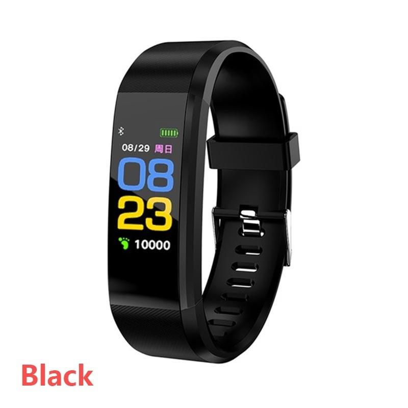 Pour montre Apple écran couleur ID115 plus intelligent Bracelet Fitness Tracker bande de fréquence cardiaque Tensiomètre intelligent Wristband