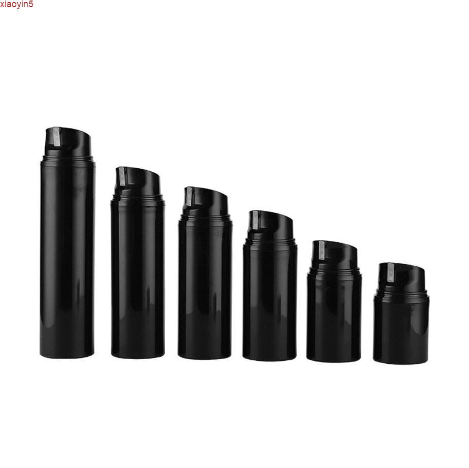 24 x mini пустой портативный черный безвоздушный дозатор лосьон насос кремовые бутылки 30 мл 50 мл 80 мл 100 мл 120 мл 150млглый продукт
