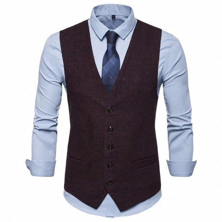 Costume Mode Gilet Hommes Tenue Gilet Colete Masculino Chevrons Gilet sans manches Veste de remise en forme de mariage Waistcoat hommes XXXL 83XS #