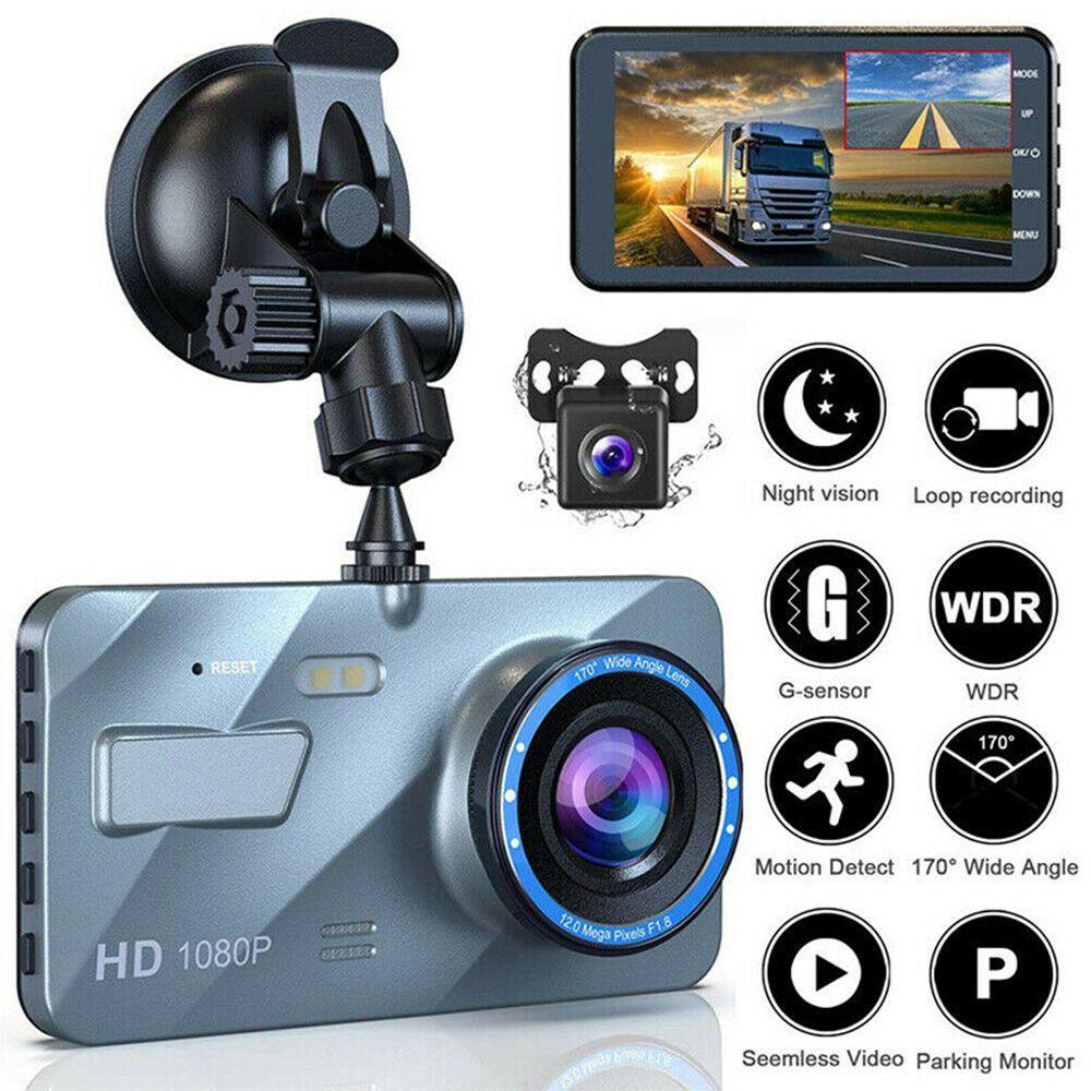 """4 """"2.5D HD 1080P Dual Lente Carro DVR Video Recorder Dash Cam Smart G-Sensor Câmera Traseira de 170 Graus Angular Grande Resolução Ultra HD"""