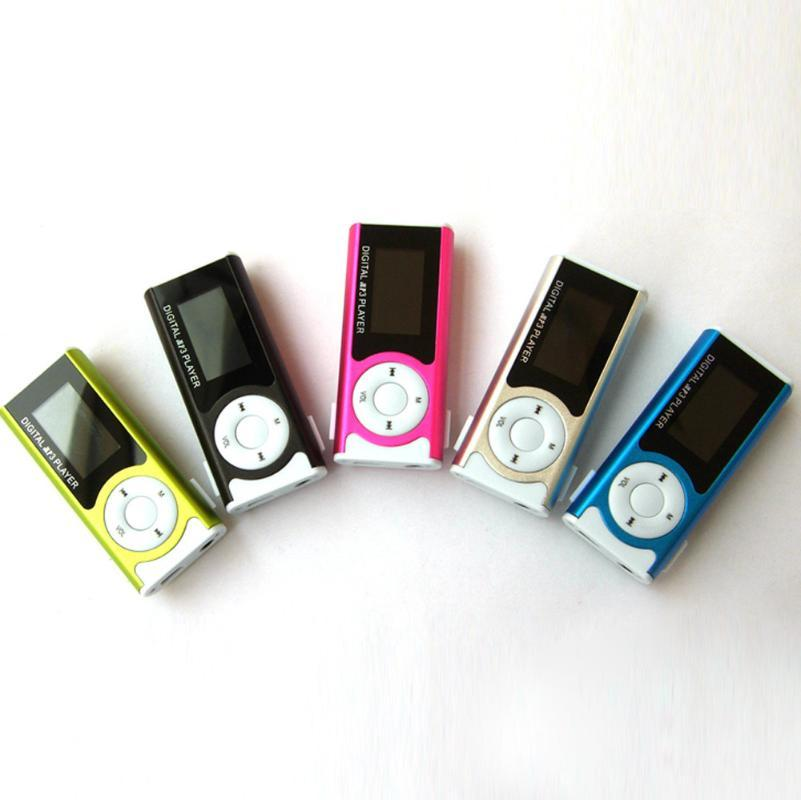 MP3 player Portable LCD USB 2.0 MP3 Player Support 16GB Micro SD TF Card USB Clip Mini LED In stock