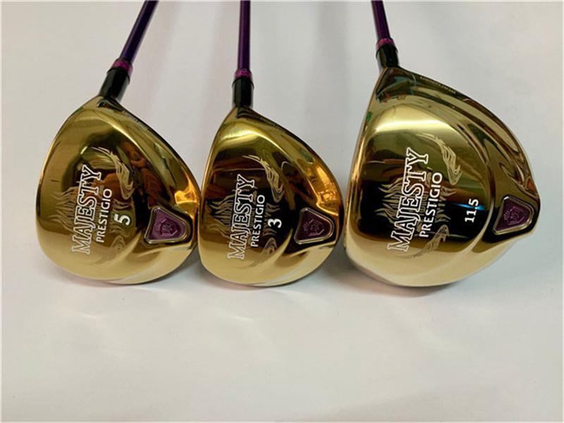 Maruman Majesty Prestigio9 Holz Set Frauen Golf Woods Frauen Golf Clubs Fahrer + Fairway Woods Graphitwelle mit Kopfabdeckung