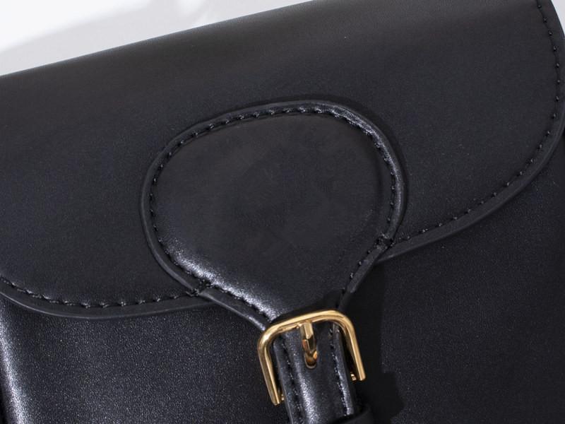 2020 envío libre de diseño de alta calidad Bobby genuinos negros en relieve de las mujeres de cuero bolsas bolso de mano bolsas de mensajero crossbody
