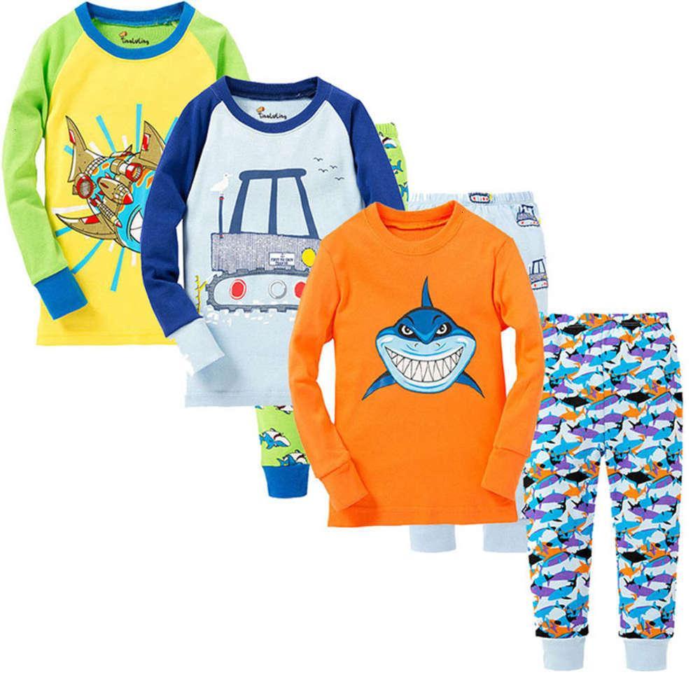 Silk Children's Mian Casa Pijama Pano Terno para meninos e meninas