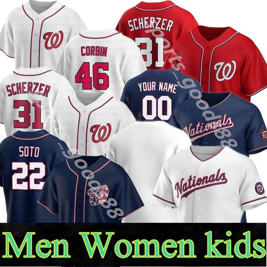 2020 Вашингтон Национальный Джерси 34 Харпер 22 Хуан Сото 7 TREA Turner 31 Max Scherzer 37 Стивен Страсбург Бейсбол 13 Cabrera