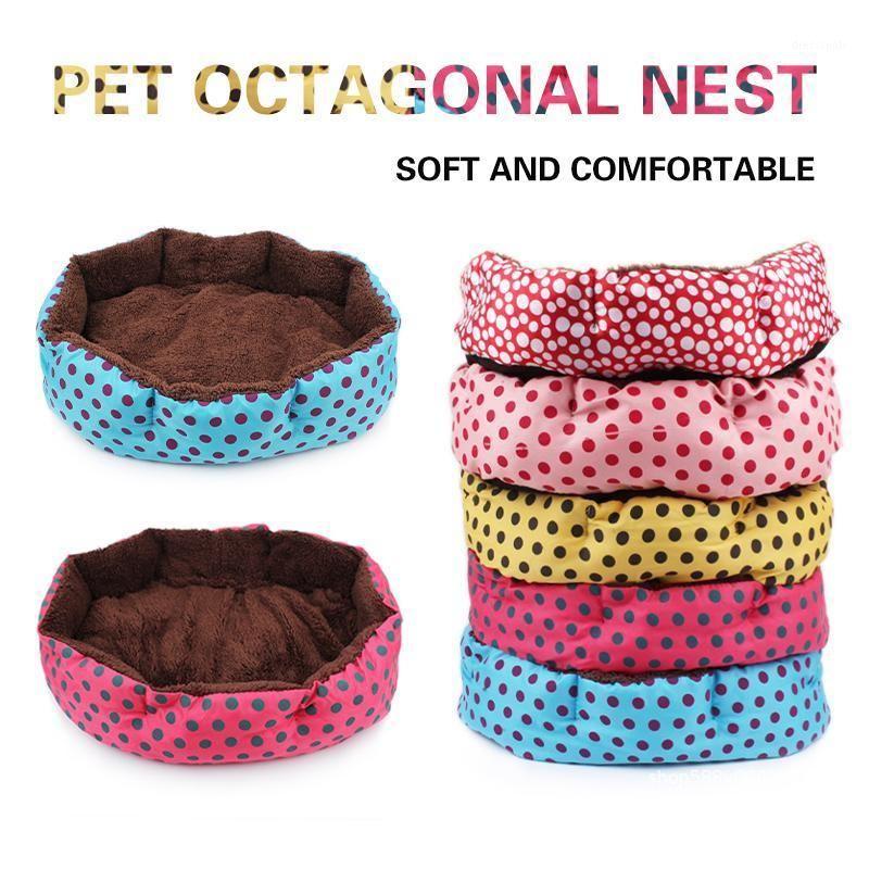 Cama pequeña para mascotas Lindo Dot Doghouse Detachable Pet Mat Dots Cathouse Dog Bed Supplies de moda para pequeños accesorios para perros