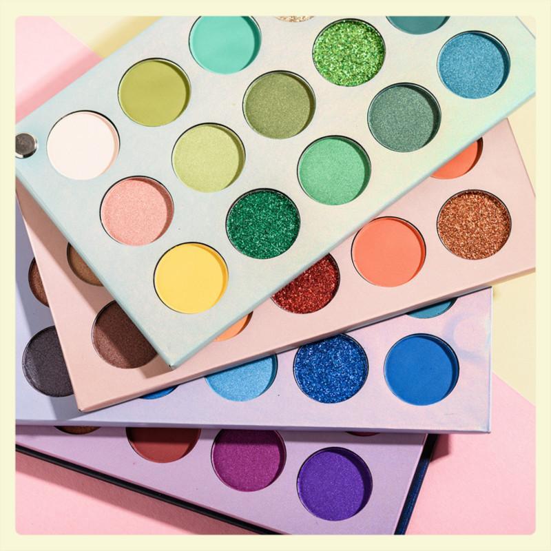 Güzellik Sırlı Renk Kurulu Göz Farı Tepsi 60 Renk Ile 4 Kurulu COS Sahne Pearl Makyaj Pırıltılı Mat Göz Farı Paleti