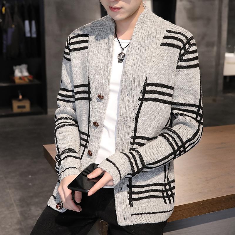 남자 스웨터 2021 가을 겨울 남성 스웨터 따뜻한 카디건 코트 남성 캐주얼 니트 outwear 후드 남자 hoody sweatshirt