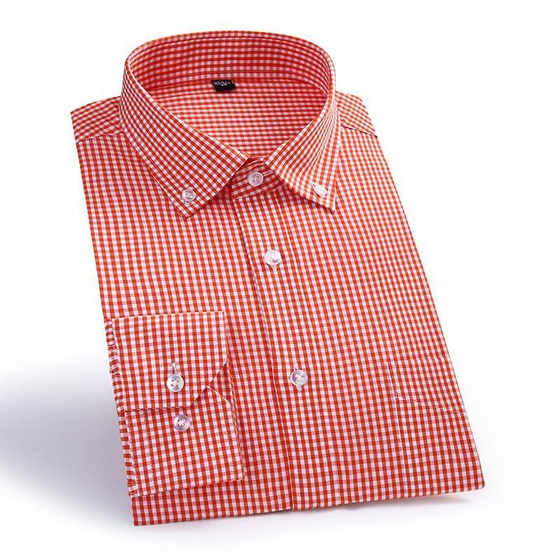 Camisas casuales para hombres Macrosea Llegada a cuadros Masculino de algodón Cuello de rechazo Camisa social Hombres de alta calidad Smart QS