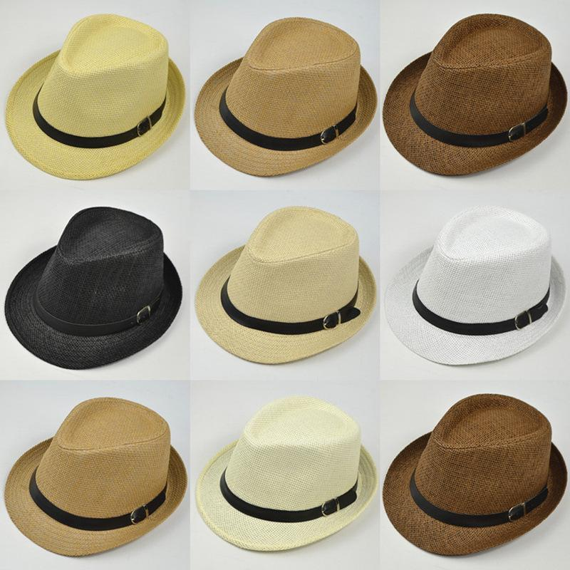 2020 Ретро соломы Fedoras Top Jazz Plaid Hat Весна Лето котелках Cap Классические версии Шляпы Повседневная Пляж Hat Мужчины Женщины