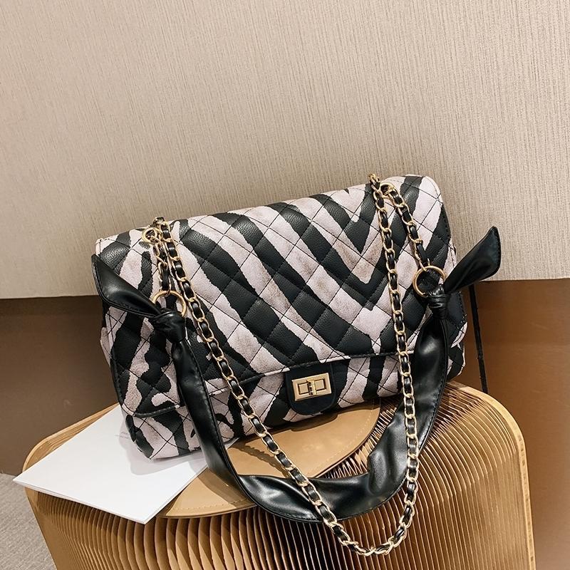 Olsitti Kette Zebra Muster Designer Crossbody für Frauen 2020 Winter PU Mode Trend Umhängetasche Trending Handtaschen