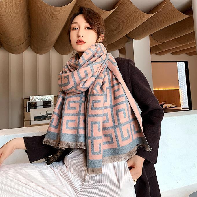 2020 Winterschal frauen Kaschmir Schal Mode Warme Foulard Dame Klimatisierte Büroschals Dicke weiche Tücher Wraps