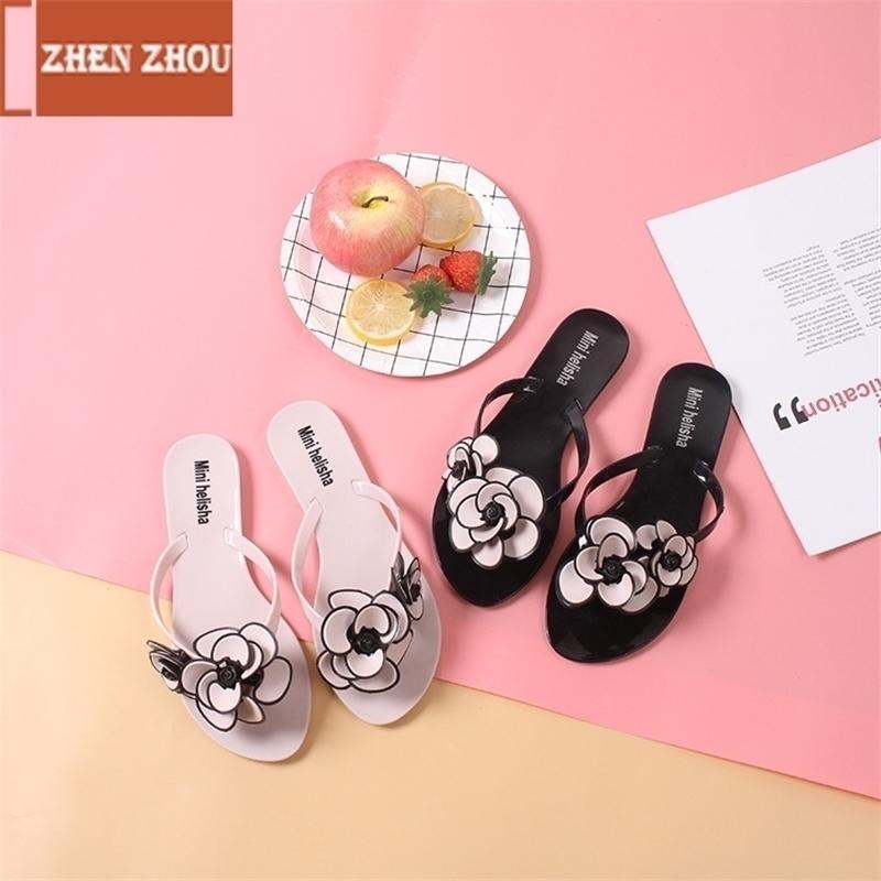 Livraison Gratuite Femmes Pantoufles Summer Beach Pantoufles Flip Flop Sandales Femmes Fleur Fashion Pantoufles Dames Appartements Chaussures Y200423