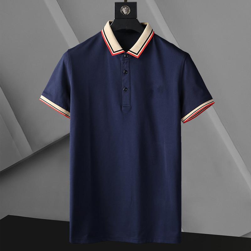 Designer Donners Polo T Shirt Summer Maniche corte Doppia Giù Colletto a maniche corte Top Polo Shirts 1s