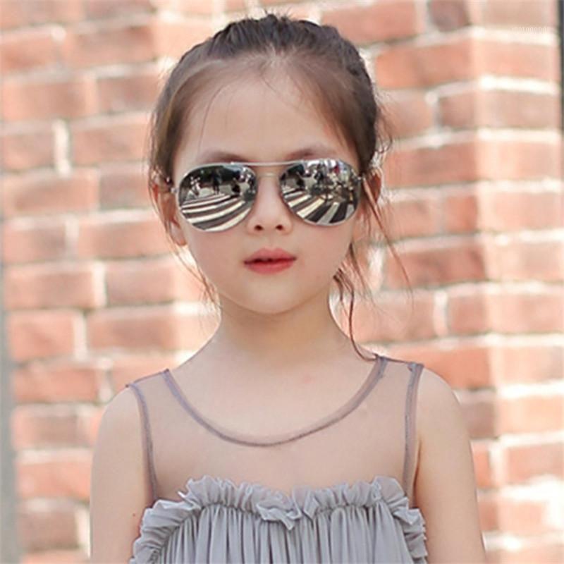 TTLIFE Renkli Metal Çocuk Gözlüğü Kızlar Alaşım Güneş Gözlüğü Erkek Trend Çocuklar Açık Kişilik Gözlük Pilot Toddler YJHH03011