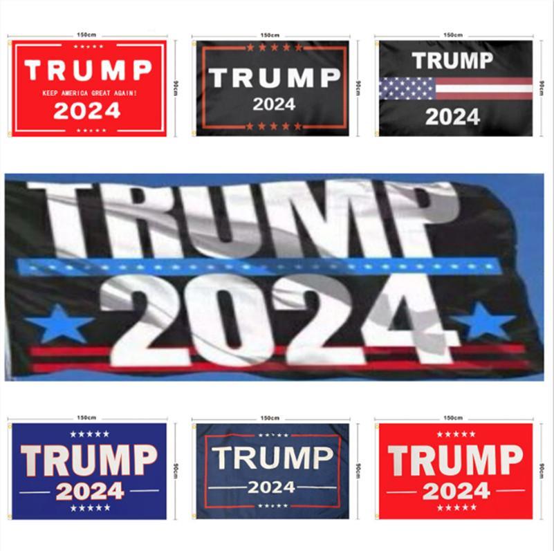 Трамп Флаг 2024 Избрание баннер Дональд Храните Америку Большое снова Иванка Флаги 150 * 90см 13 стилей