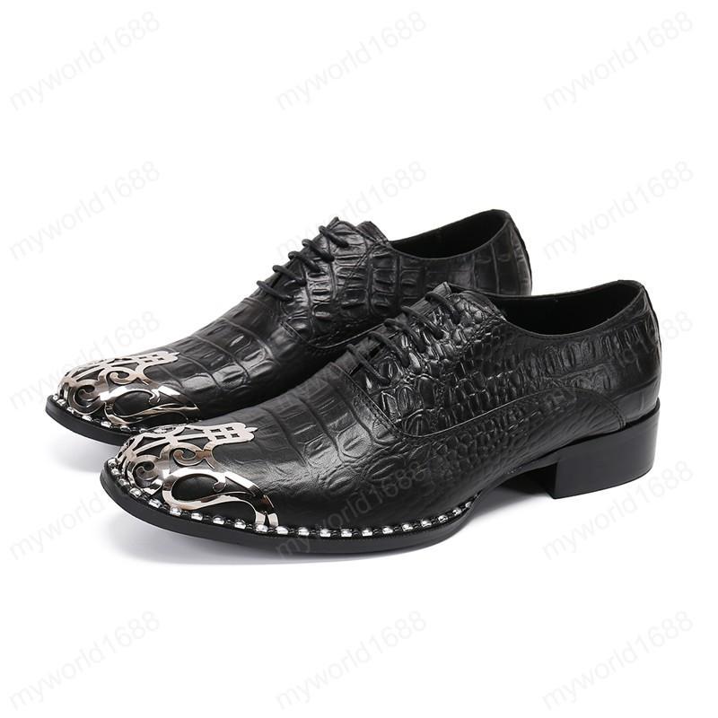 Камень Pattern Мужчины Оксфорд Обувь из натуральной кожи Броги мужчина Бизнес Свадьба Узелок платье обувь
