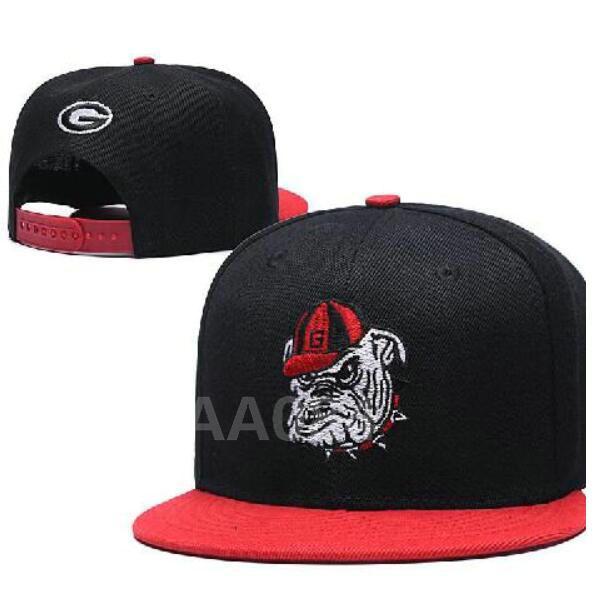 NCAA Georgia Bulldogs Snapback Caps chapéu Duke Alabama Crimson Devils Miami Hurricanes Cap Seminole Estado da Flórida um tamanho serve para todos a27