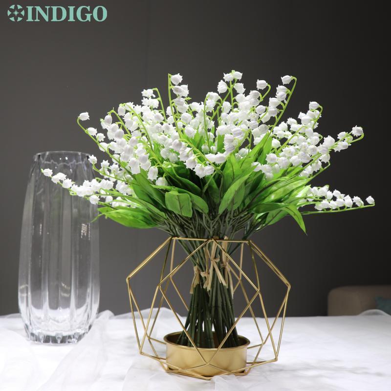 Indigo - Atacado 360 pcs Canterburybeels Plástico branco casamento flor plástico flor mesa de mesa frete grátis