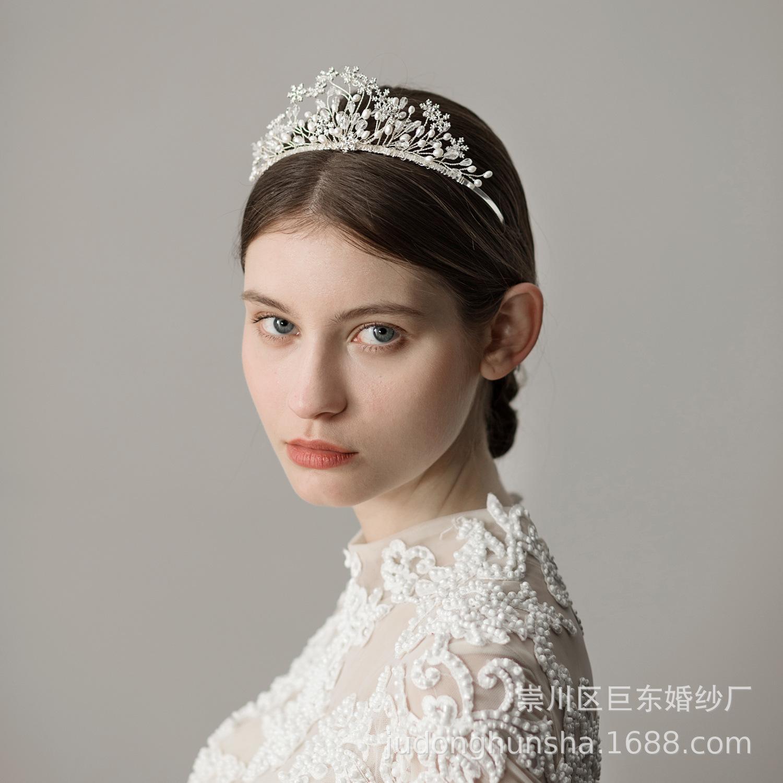 Jóias Acessórios floco de neve da flor do casamento de Cristal Headpiece Cabelo nupcial nupcial Headpieces noiva de Halo Headband cabelo
