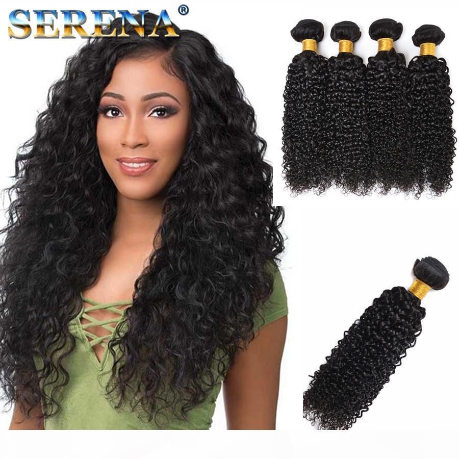 Human Hair Wefts Kinky Curly Brazilian Hair Bundles 4pcs lot Unprocessed Cheap Brazilian Kinky Curly Hair 30 Inch Bundles 1B Factory Price