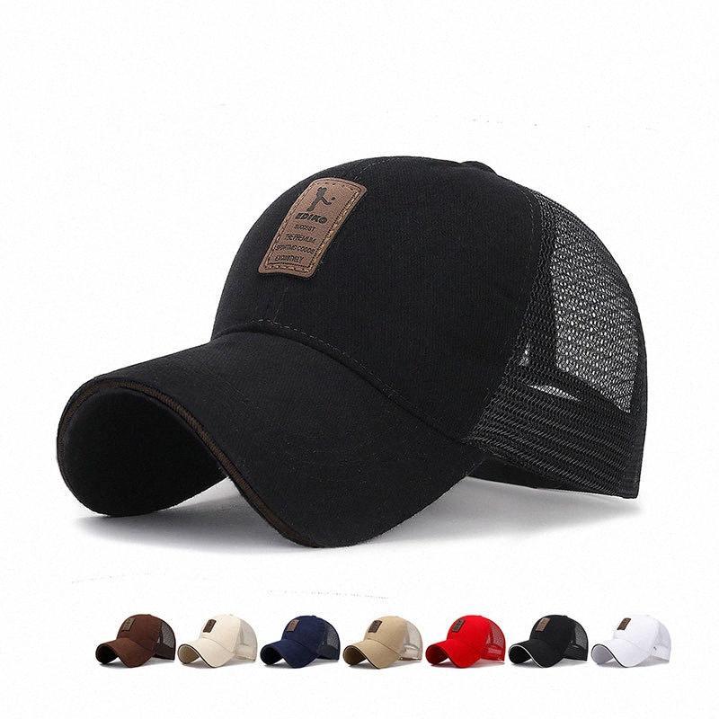 9 couleurs Mens Golf Chapeau de basket-ball Casquettes Casquettes de base-ball pour hommes en coton Casquette pour hommes et femmes Lettre Cap J9Af #