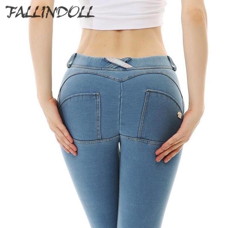 Femmes Fitness Sports Sports Leggings Jeans Silicone élastique Forme de Yoga Pantalon Gym entraînement Exploitation Collant Slim Push Up Automne Hiver Y200106
