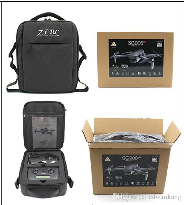 SG906 برو 1200 متر RC المسافة بدون طيار، 2-محور كهربائي قابل للتعديل 4K HD كاميرا 50X ZOOM، 5G WIFI FPV، GPS بوزيتون فرش المحرك، ذبابة المسار، 2-1
