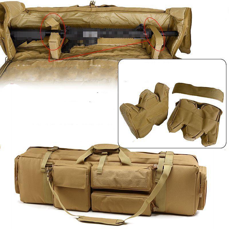 1000D Nylon Tactical M249 Bolsa de pistola Hunting Shooting Rifle Case Holster Airsoft Paintball Sniper Protection Bag