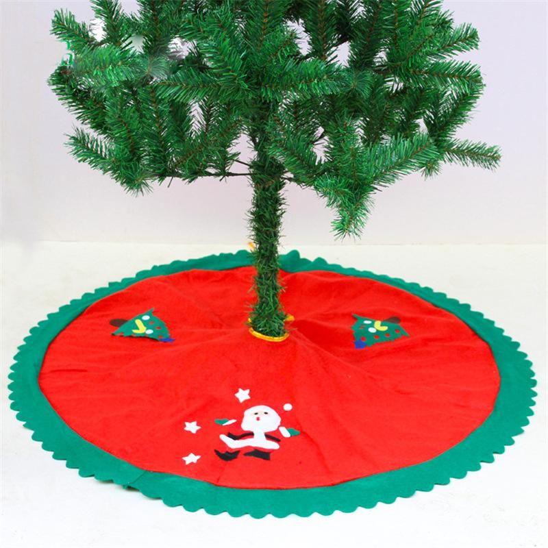 Рождественская елка Юбка Red 90см Дерево украшения База Охватывает Mat отдыха партии украшения украшения Декор Принадлежит