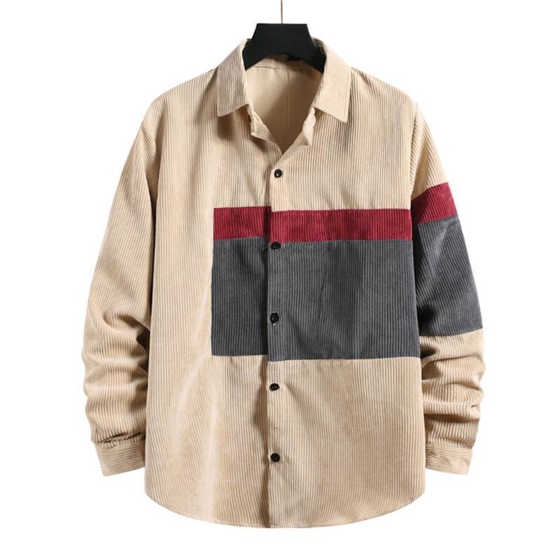 Ropa hombre männer herbst winter hemd mode marke japan stil lässig bluse 2021 corduroy shirt männlich comfort streetwear