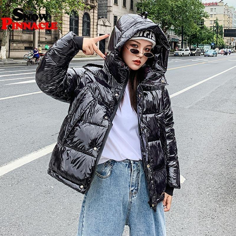 Блестящие женщины Parkas женщины Parkas Куртки мода густые теплые зимние куртки пальто для женской пиджаки M-XXL 201201
