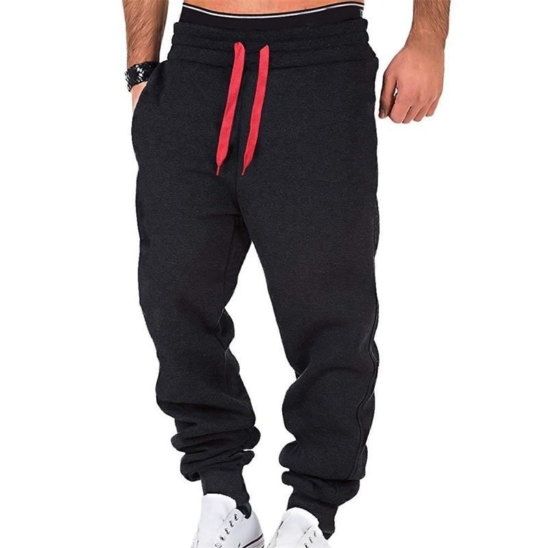 2020 NOUVEAUX HOMMES Pantalon de survêtement des vents Casual Joggers Sportswear Solide Cordon Solide Pantalons Homme Patchwork Pantalon Pantalon Poche Y200518