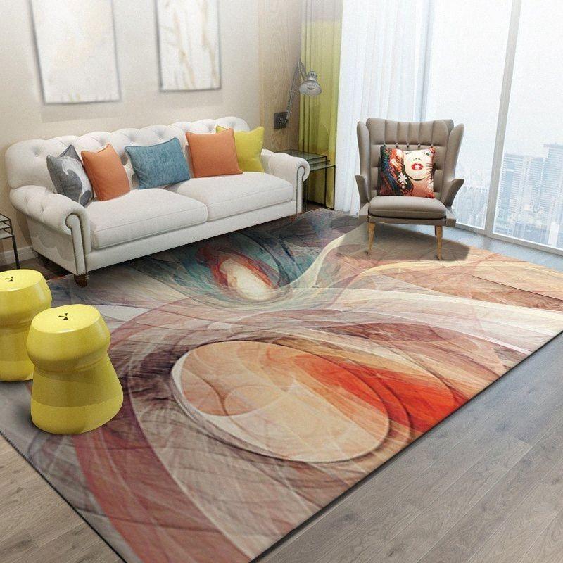 Nordic astratta Splendida Pattern Room Living Carpet bambini giocano gioco Divano Tavolo Area Tappeti arredamento camera da letto Bedside slittamento non Tappetino 7QVh #