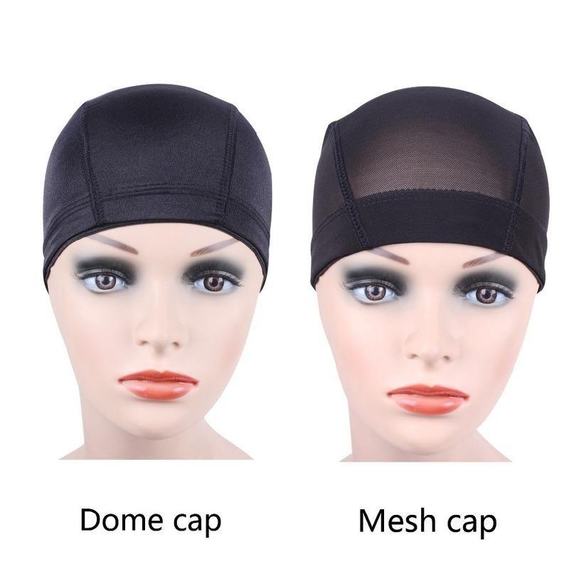 58% zniżki 1 szt. Czarna siatka kopuła peruka czapki łatwiejsze szyć w włosy rozciągliwość tkania czapka elastyczna nylon oddychająca siatka netto