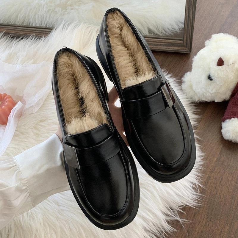 Rimocy cálida piel sintética zapatos de talón cuadrado mujeres 2020 hebilla de moda negra mary jane zapatos mujer redondo punta PU cuero bombas damas # oz59