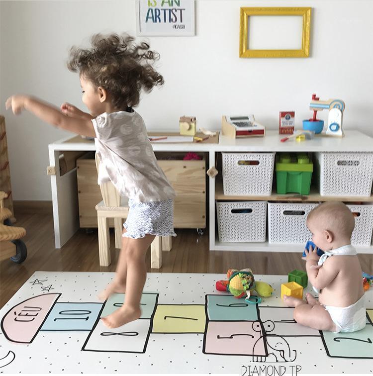 Ins new дизайн детские прыжки вкладки цифровые игры ползать коврик для материнства одеяло mat1