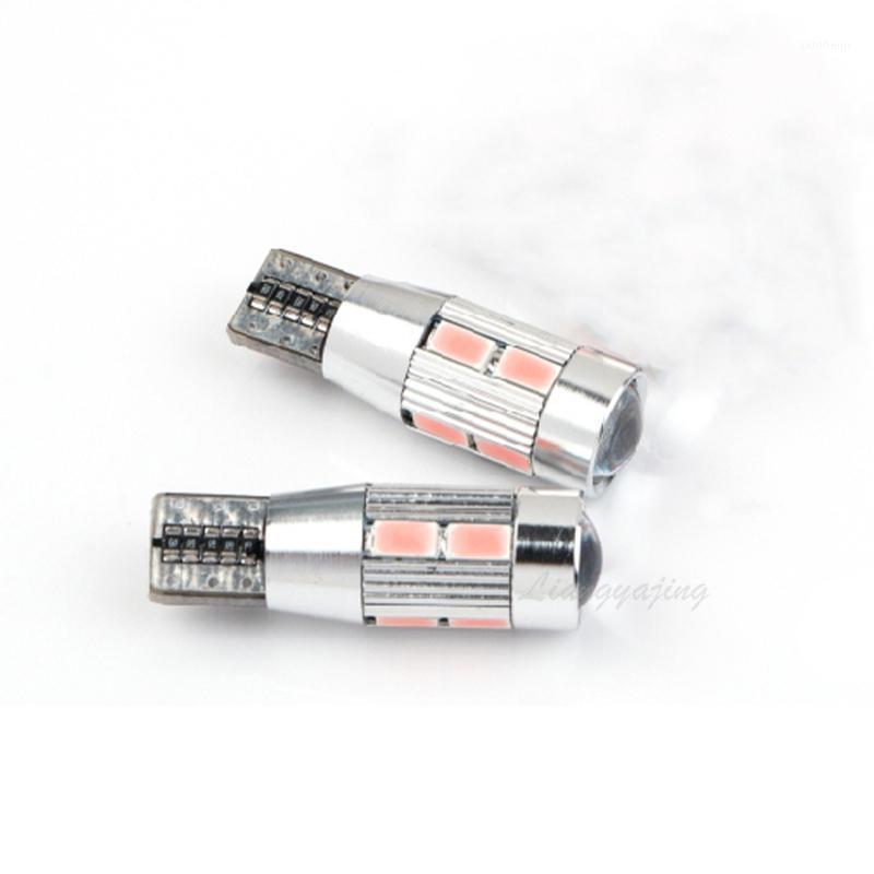 T10 W5W LED 10SMD CANBUS Araba Yan Genişlik Işık Hatası Ücretsiz Canbus Sinyal Işık 12 V Park Ters Lambalar Gümrükleme Lambası Beyaz Blue1