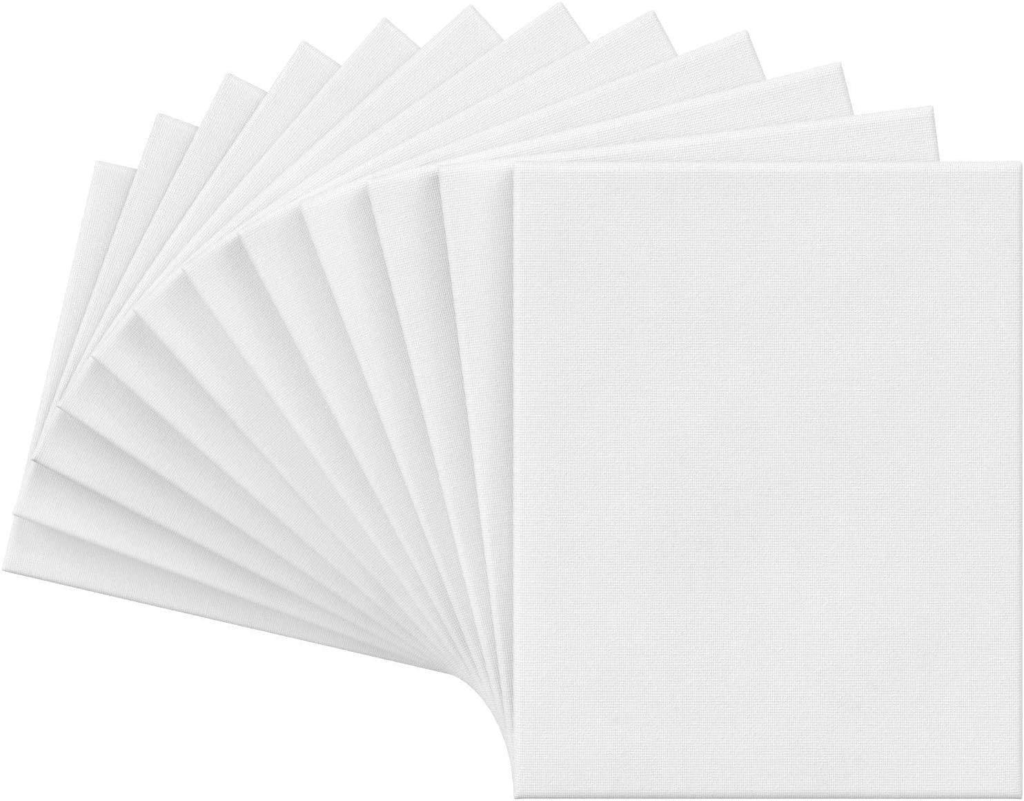 """8 """"X12"""" tela bianca tela bianca, sfusa (confezione da 10), per la pittura, versando acrilico, pittura ad olio multimediale di arte bagnata, tele per professionale"""
