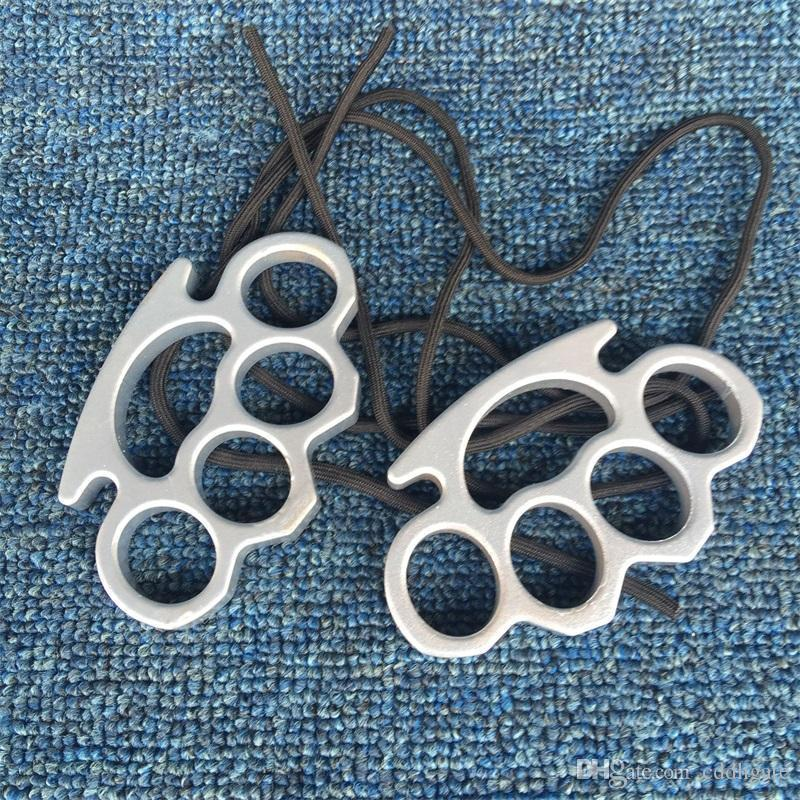 New Gilded Thick 13mm Steel Brass Knuckle Duster Color Black Plating Silver Hand Tool Clutch High Quality 574qd Ww