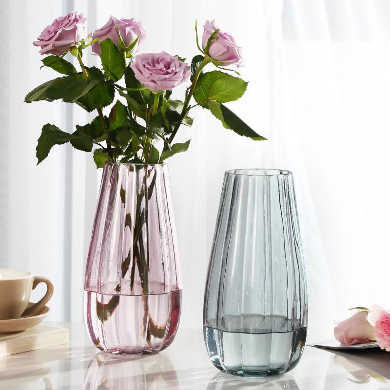 Vaso para decoração de casamento vaso de vidro hidropônico transparente para flores vasos decoração de casa acessórios de cristal moderno