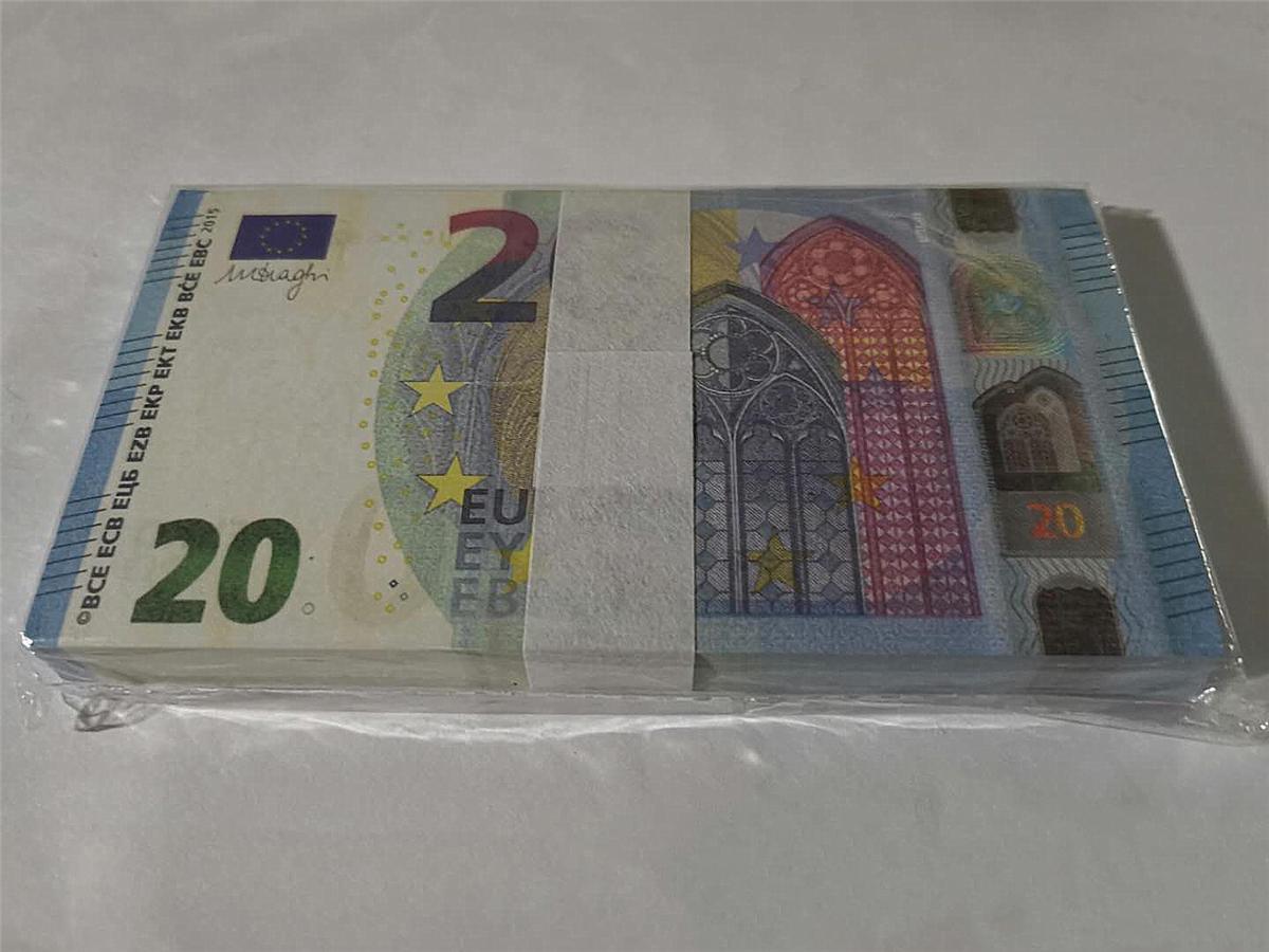 Горячей продажа SIMULATE Европы 20 евро поддельной банкноты игрушка кино и телевидение съемки реквизит реквизит практикующего банкноты игру маркер 06