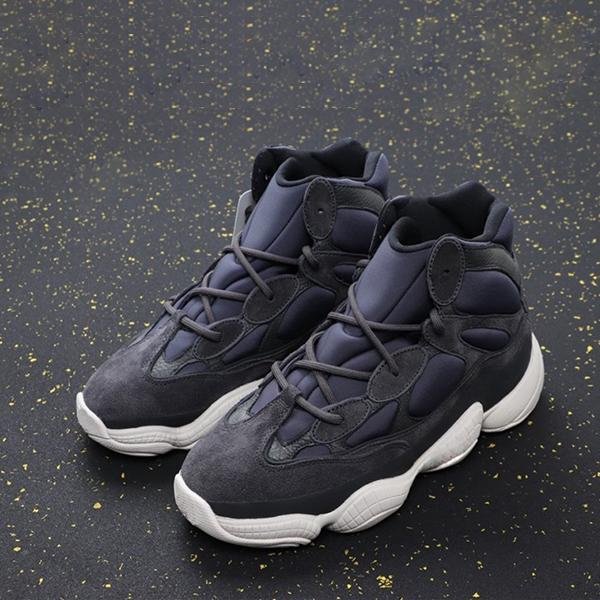 جديد شتاء جديد Kanyewests 500 عالية سليت أعلى جودة أحذية رياضية البحرية الغرب الغربية الأزياء المدربين الشتاء كاني الأحذية