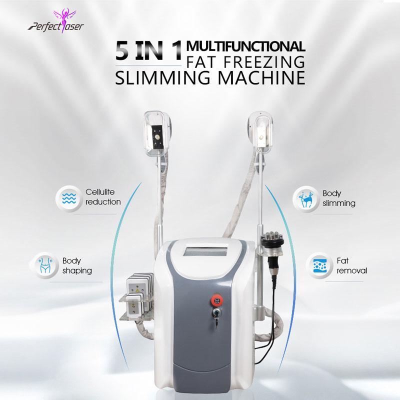 Máquina de congelamento gordo cintura cavitação de emagiamento rf máquina de gordura lipo laser 2 cabeças de congelamento podem funcionar ao mesmo tempo